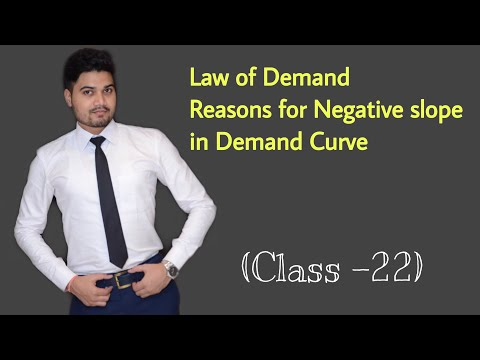 #22, Law Of Demand ! Reasons Of Negative Slope In Demand Curve   - Class XI