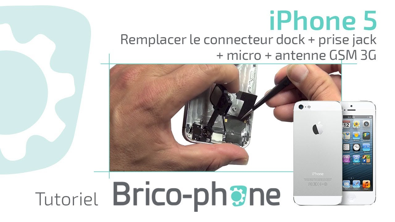 small resolution of tuto iphone 5 changer le connecteur dock prise jack micro antenne gsm 3g youtube