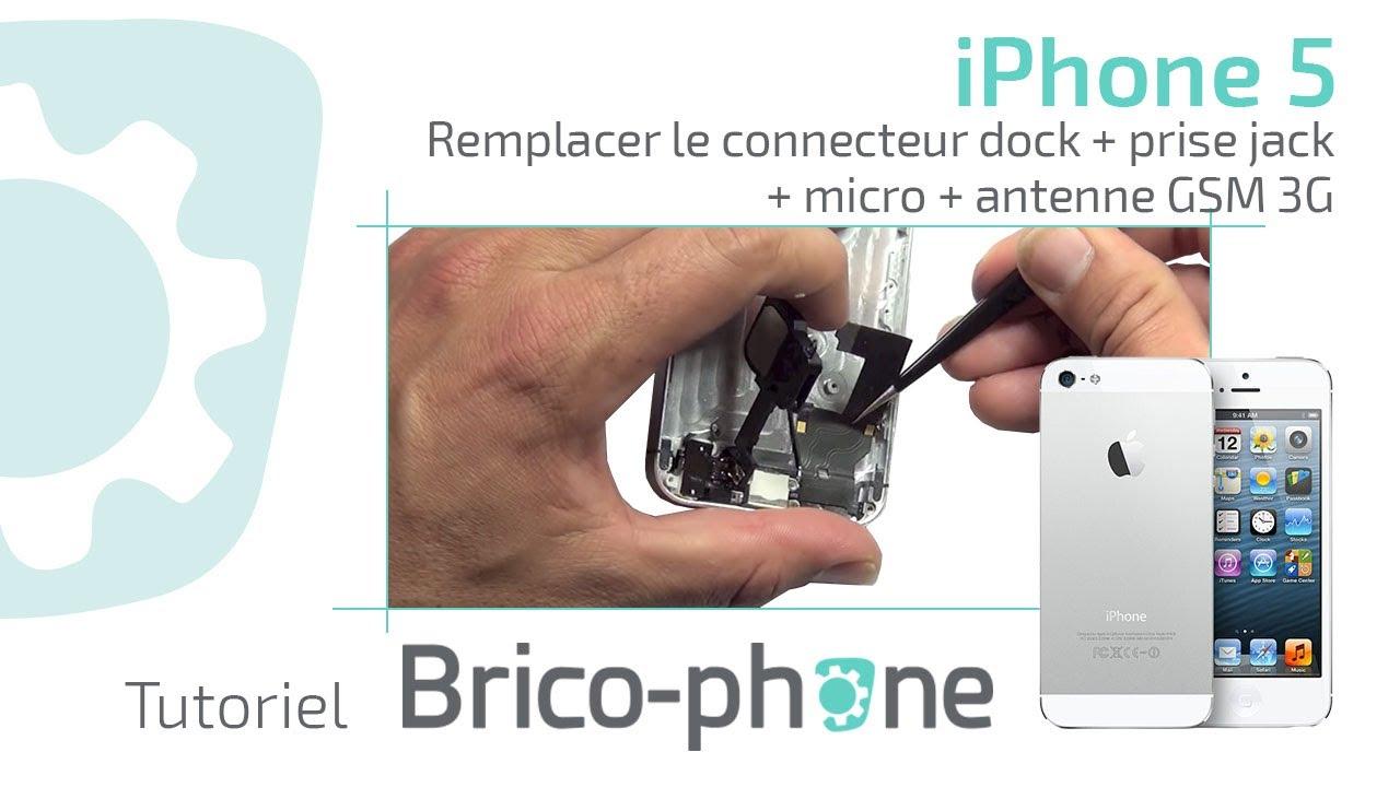 tuto iphone 5 changer le connecteur dock prise jack micro antenne gsm 3g youtube [ 1280 x 720 Pixel ]