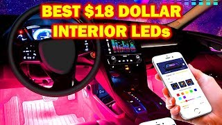 INSANELY COOL $18 LED Strips For your Interior!!!  (EASY INSTALL)