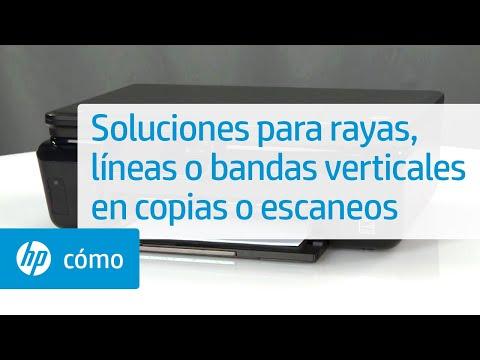 Soluciones para rayas, líneas o bandas verticales en copias o escaneos | HP Printers | HP