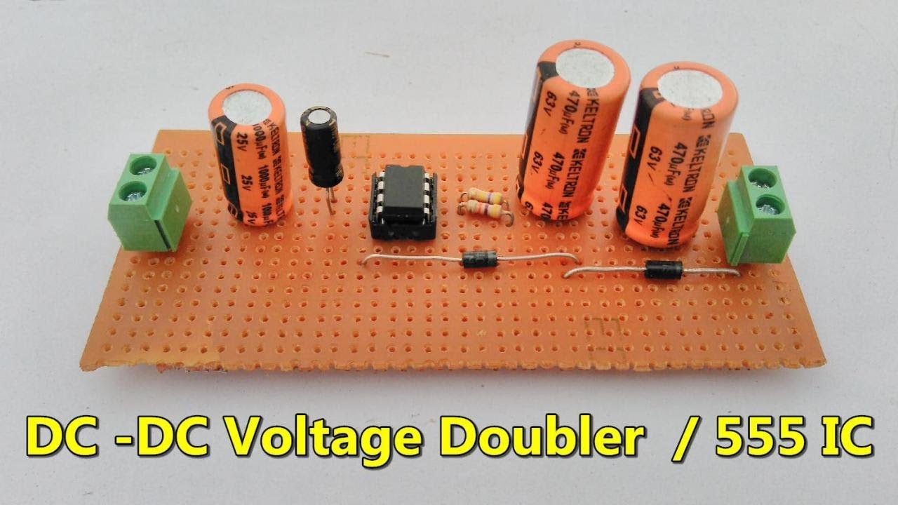 Dc Voltage Doubler Ic555 Low Power Supply 3v To 28v Transformerless Step Up Converter With Switch Mode Boost Regulator