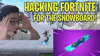 *HACKING* FORTNITE to get the SNOWBOARD EARLY! - Fortnite Glitches