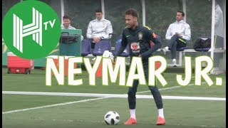 Brazil and Neymar show off tricks and flicks in training
