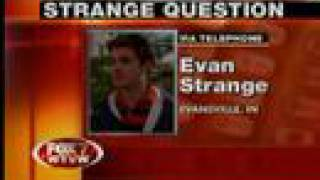 Evan Strange interviewed about Chelsea Clinton Question