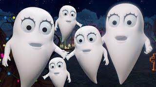 пять маленьких призраков | страшная песня | смешной стишок | Five Little Ghost In English