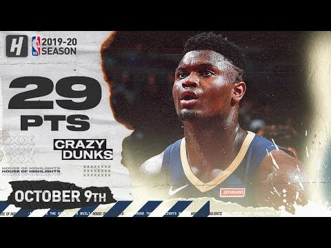 Zion Williamson EPIC Full Highlights vs Chicago Bulls (2019.10.09) - 29 Points!