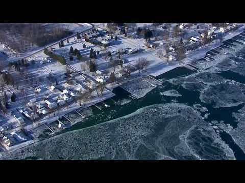 Ice jam on St. Clair River