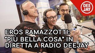 """Eros Ramazzotti, Albertino, Nicola Savino, Digei Angelo e Roberto Ferrari cantano """"Più bella cosa"""""""