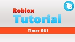 Roblox | How to make a Timer GUI