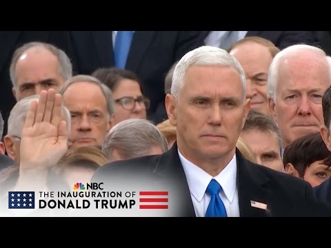Mike Pence Takes Oath of Office for Vice President of the Un