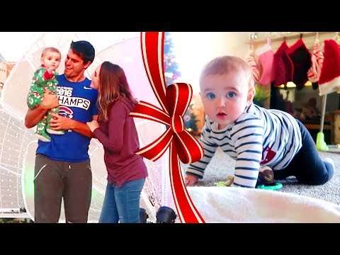 A CHRISTMAS SURPRISE & BABY'S FIRST CRAWL!