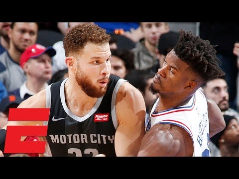 Jimmy Butler drops 38, gets heated with Blake Griffin in 76ers' win vs. Pistons  NBA Highlights