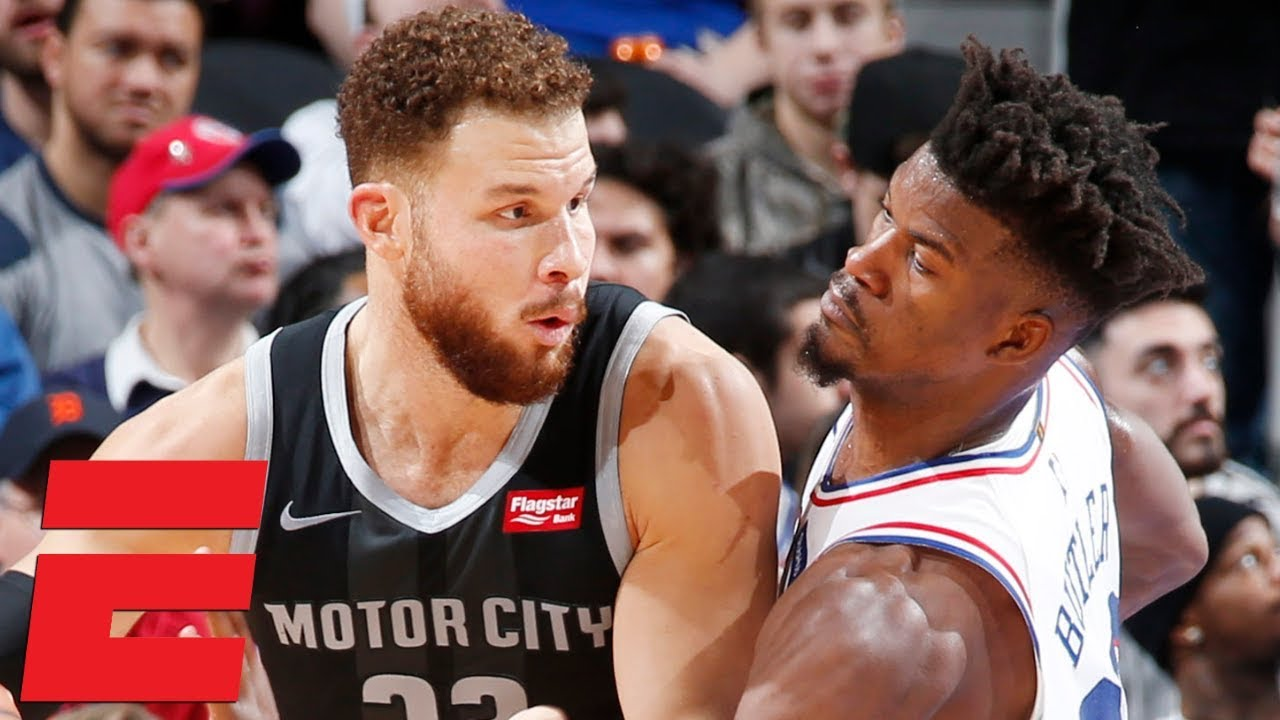 Jimmy Butler drops 38, gets heated with Blake Griffin in 76ers' win vs. Pistons | NBA Highlights