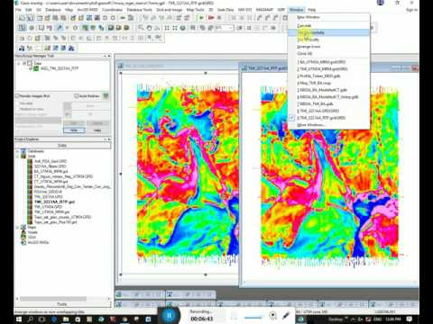 Geosoft - Calculating RTP, Horizontal and Vertical Derivatives