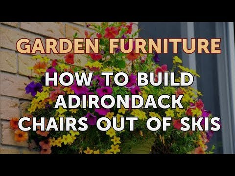 How to Build Adirondack Chairs Out of Skis