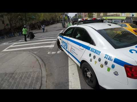 NYPD fails to yield to cyclist on 2nd Avenue in Manhattan
