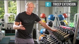Greg Norman workout series - No.3 - Tricep extension