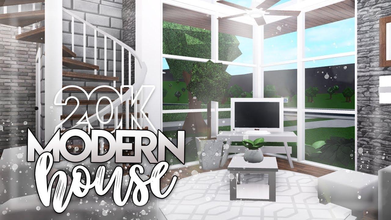 Roblox Bloxburg 20k Modern House House Build Youtube
