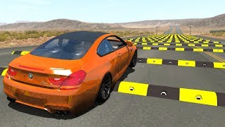 Speed Bumps Against Real Car Mods - BeamNG Drive Speed Bumps Testing #14
