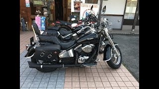 女性ライダータンデム スペシャルサウンドを聞いて Kawasaki Vulcan ClassicVN400C カワサキ・バルカンクラッシックVN400C