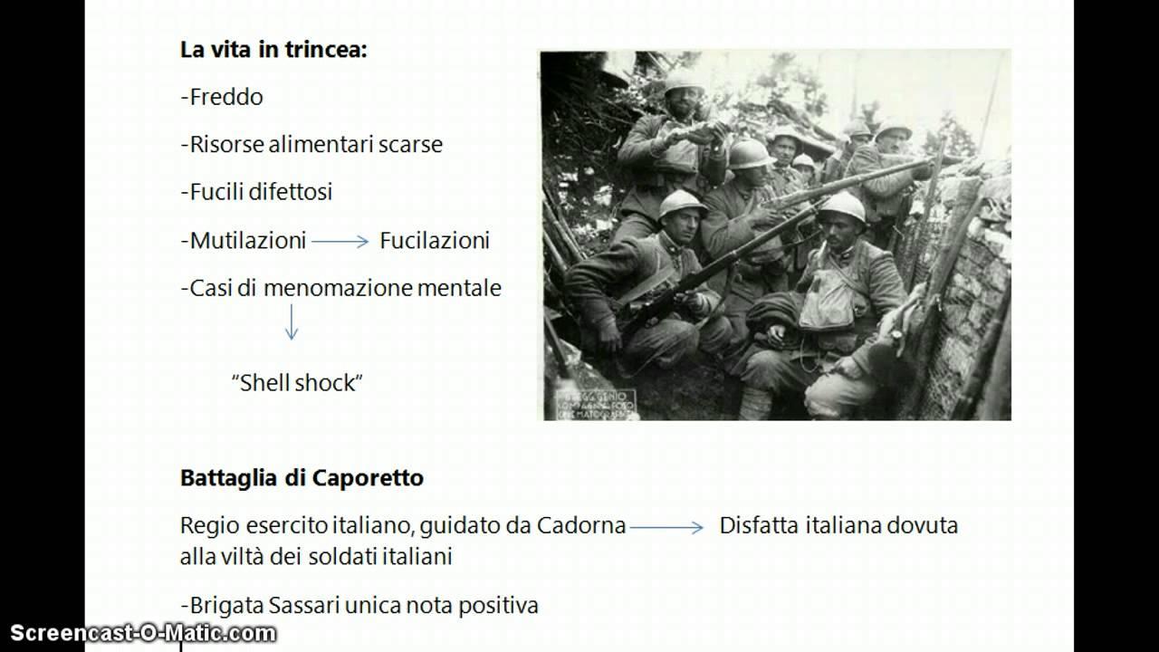 Condizioni di vita nella Prima Guerra Mondiale e la ...