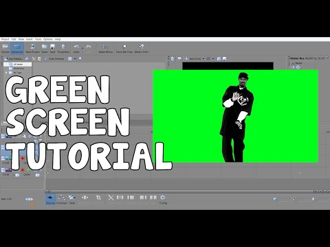 GREEN SCREEN TUTROIAL - SONY MOVIE STUDIO PLATINUM 13.0