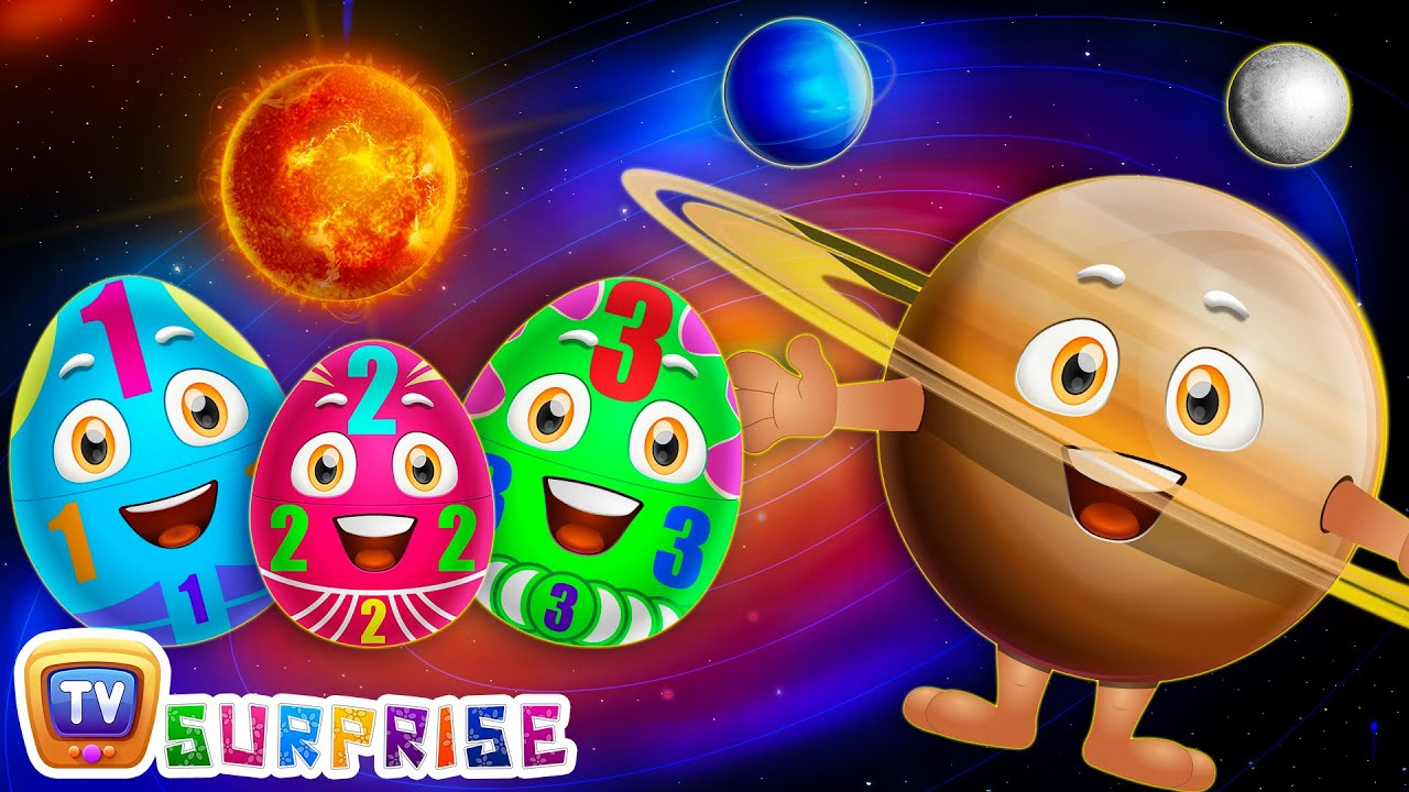 Surprise Eggs Learning Space - Planets Of The Solar System – Sun, Moon, Earth & Stars - ChuChu T