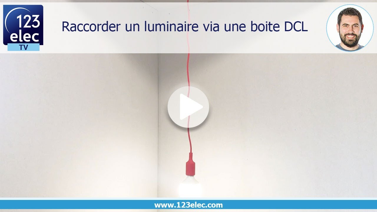 raccorder un luminaire via une boite dcl youtube. Black Bedroom Furniture Sets. Home Design Ideas