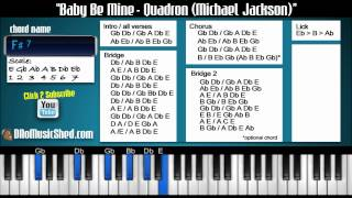 "How to play ""Baby Be Mine"" by Quadron Michael Jackson (PIANO TUTORIAL)"