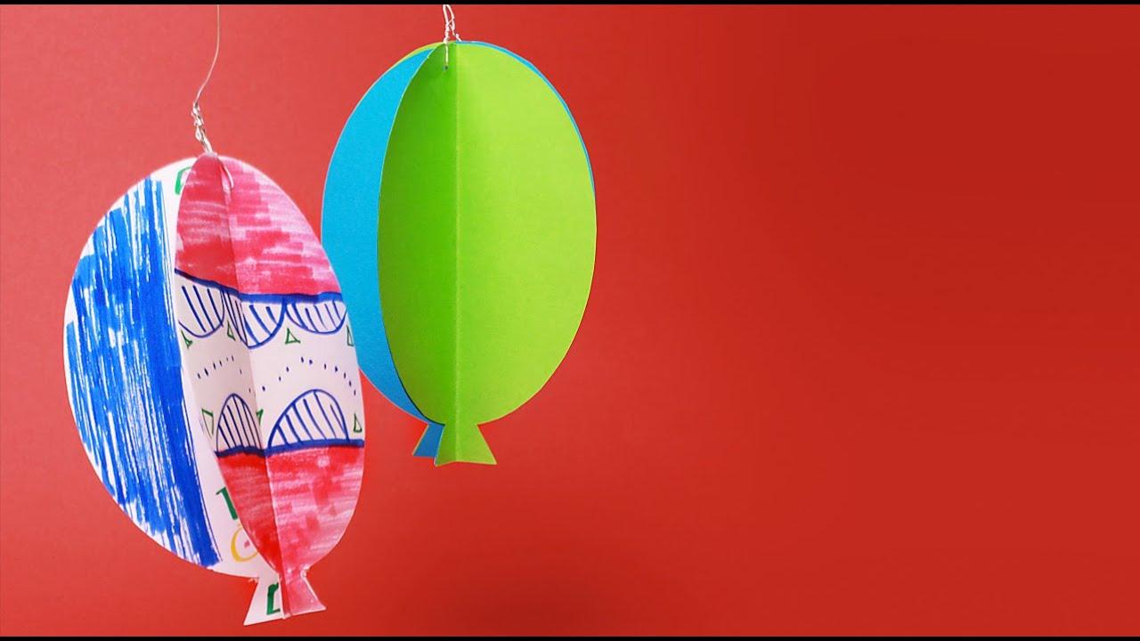 Sommerliches Ballon Windspiel Basteln Mit Kindern Youtube