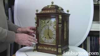 Antique Lenzkirch German Mantel Clock with ting tang quarter striking