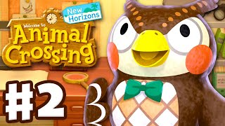 Blathers Arrives! 15 Donations! - Animal Crossing: New Horizons - Gameplay Walkthrough Part 2