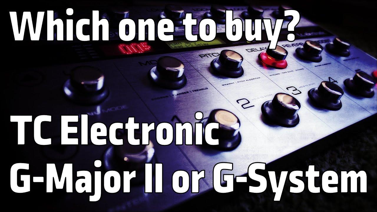 tc electronic g major 2 g system effect comparison youtube. Black Bedroom Furniture Sets. Home Design Ideas
