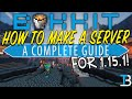 How To Make A Bukkit Server in Minecraft 1.15.1
