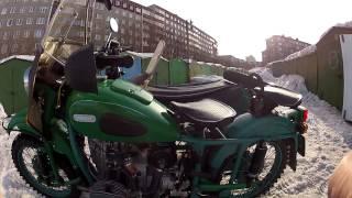 Обзор мотоцикла урал с приводом на колесо коляски.(Мотоцикл урал 2 WD с Днепровским приводом на колесо коляски. Обзор N 2. Снято на Go Pro Hero 2., 2015-03-15T19:47:19.000Z)