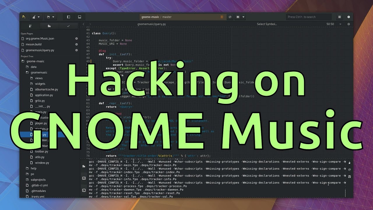Hacking on GNOME Music