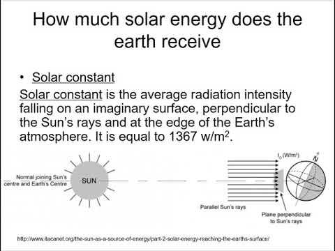 Solar energy 1 into-solar constant