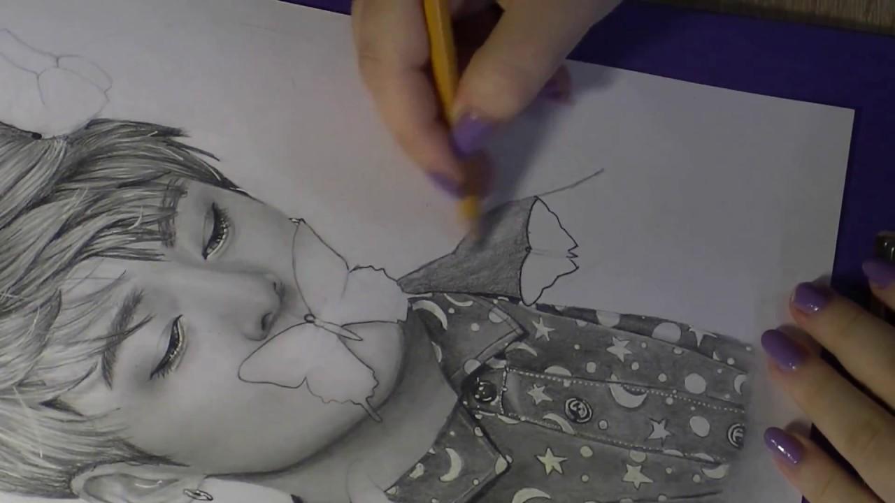 Jungkook Bts Drawings: Realistic Drawing Of Jungkook (BTS)
