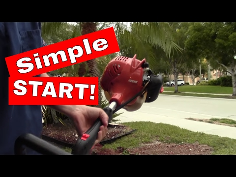 How to start a 2-cycle or 2 stroke Echo Weed-Trimmer in UNDER A MINUTE!