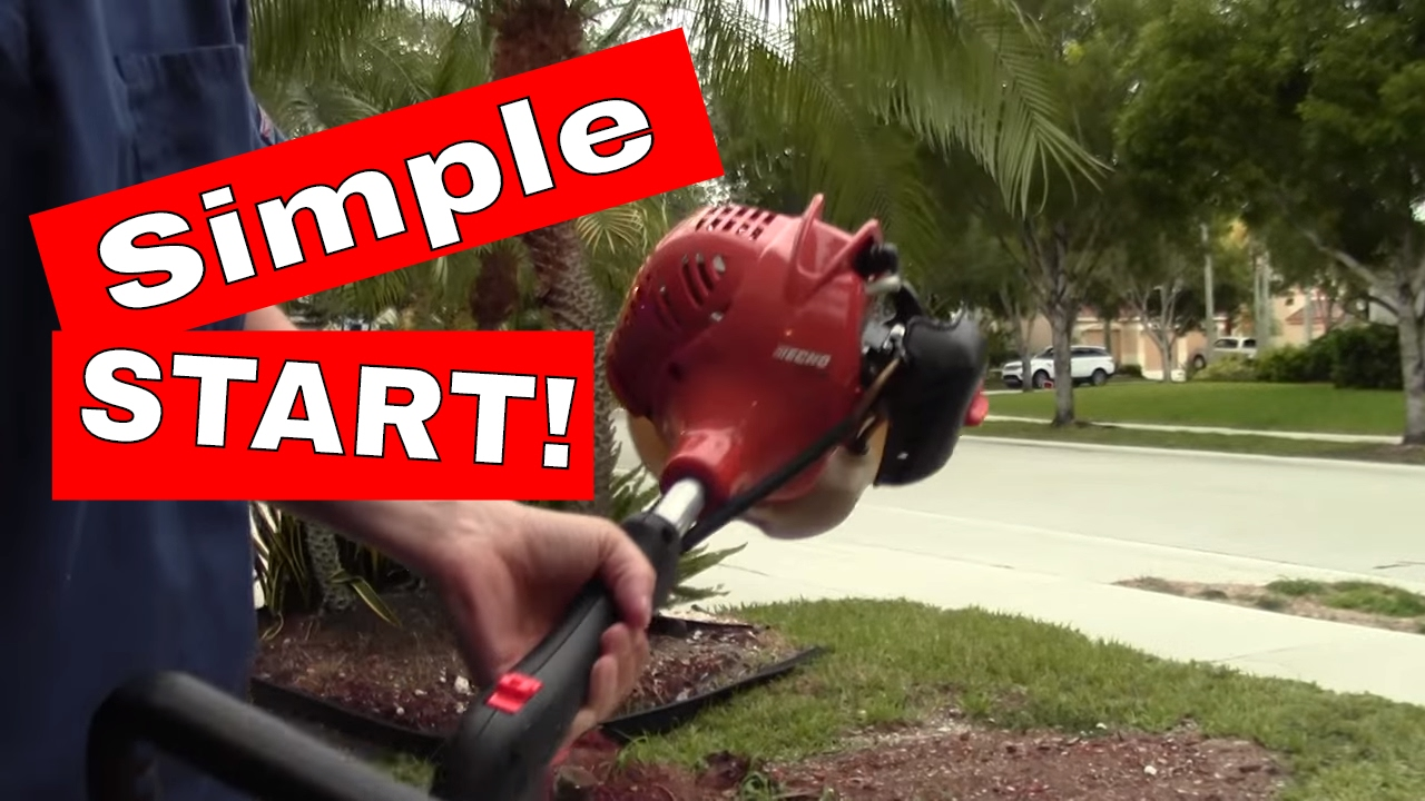 How To Start A 2 Cycle Or Stroke Echo Weed Trimmer In Under Minute