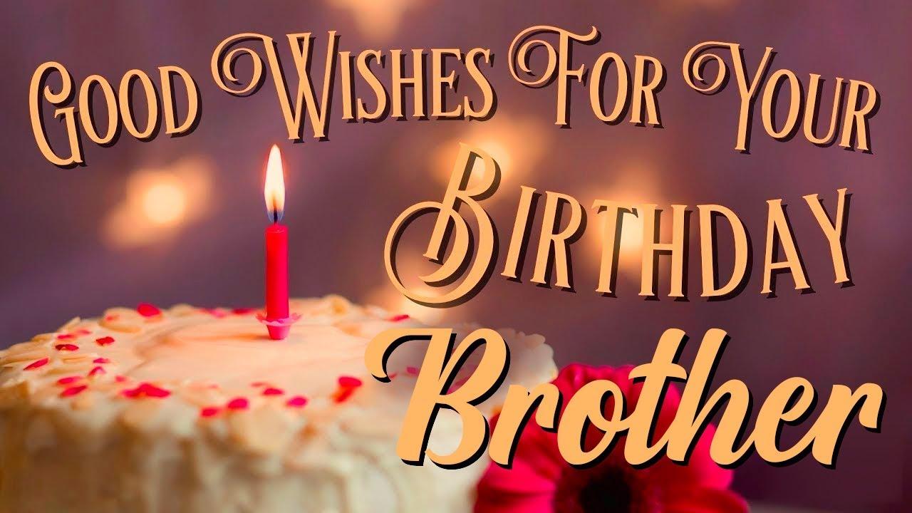 Happy Birthday Brother E Greeting Video Birthday Wish Video Whatsapp Status Youtube