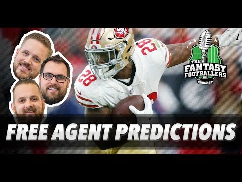 Fantasy Football 2018 - Free Agent Predictions & Combine Reactions - Ep. #528