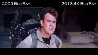 Ghostbusters 2009 Blu-Ray Vs 2013 Mastered in 4K Blu-Ray Comparison