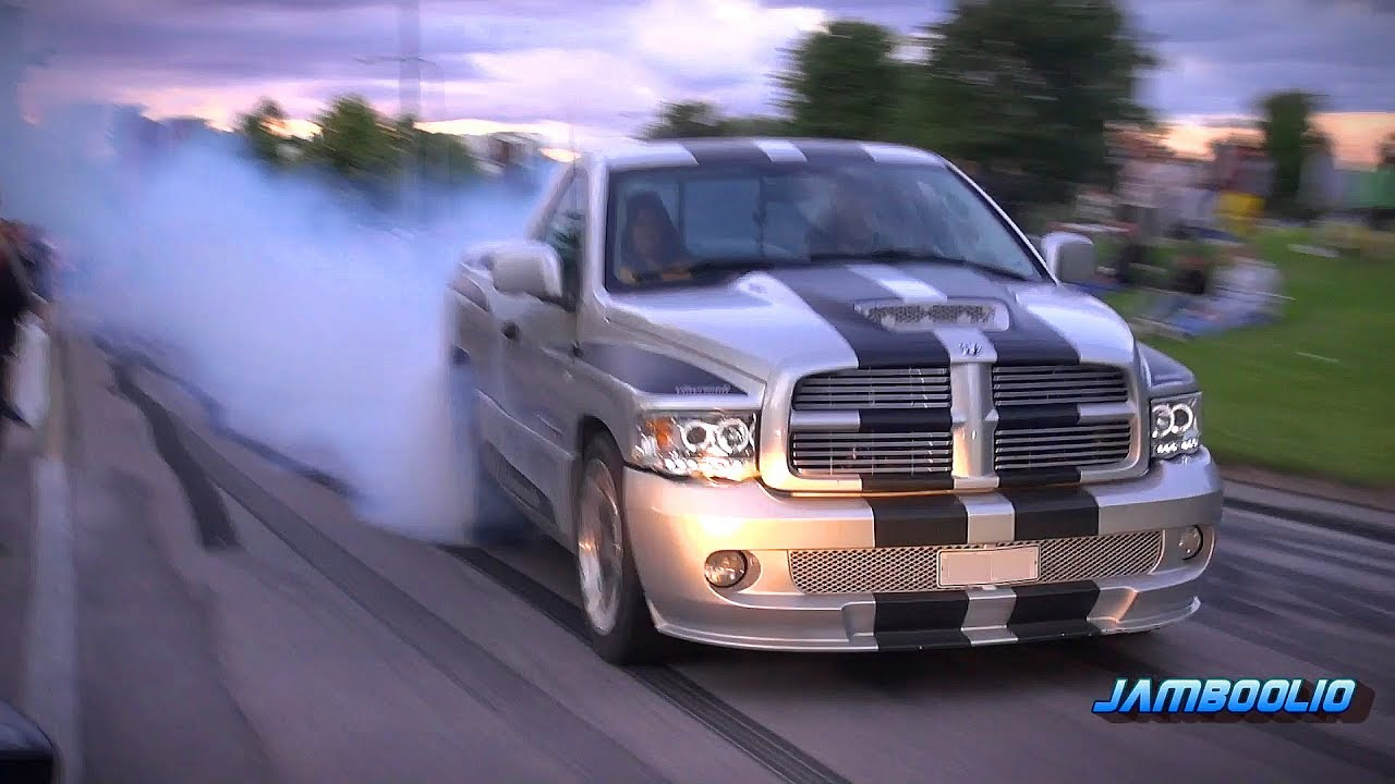 Dodge Ram Srt 10 Mean V10 Sound Even Meaner Burnout