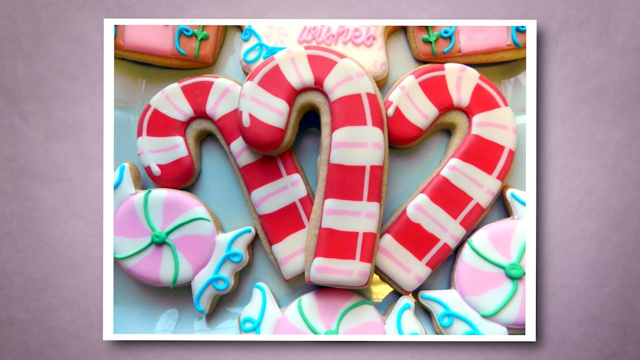 How To Decorate A Candy Cane Cookie Youtube