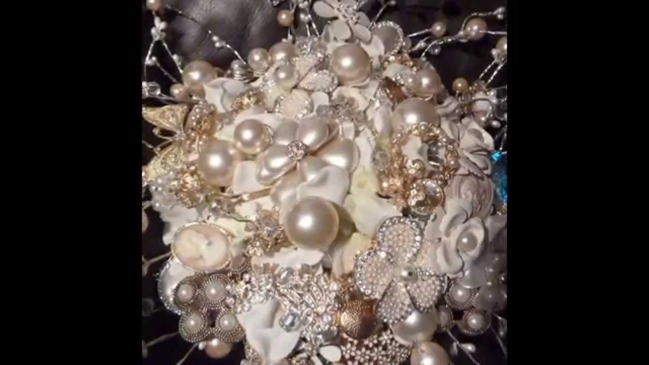 how to make a brooch bouquet with flowers bride and bridemaides ...
