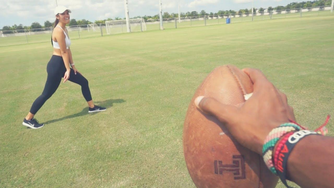 My Gf Com my gf plays football better than me