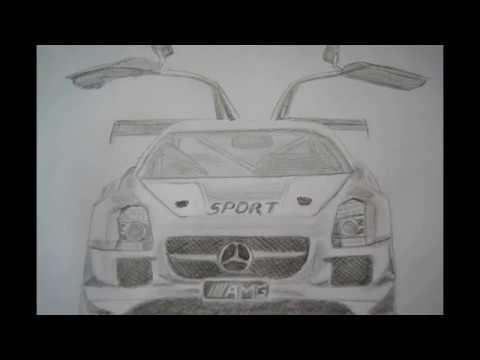 Auto zeichnen - how to draw Mercedes Sport - как нарисовать машину ...
