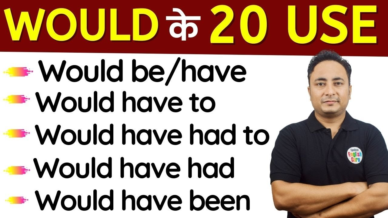 Would के सभी 20 Use । (Would + Be/Have) in English Grammar